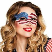 Csillogó Amerikai Zászló Mintás Szemmaszk