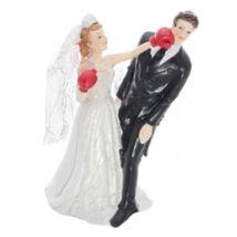 a0209cf772 Bokszoló Menyasszony Esküvői Pár Tortadísz