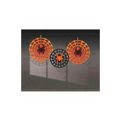 Legyező függő,-Pók Hálóban Legyező Függő Dekoráció - 3 Db-Os