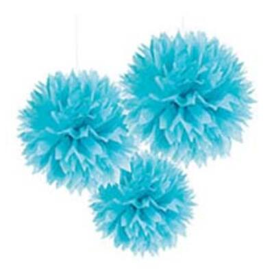 Kék Bolyhos Függő Dekoráció - 41 Cm, 3 Db-Os
