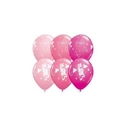 28 cm es  Minnie Egér Mouse Birthday Spec. Asst. Szülinapi Léggömbök  (25 db/csomag)