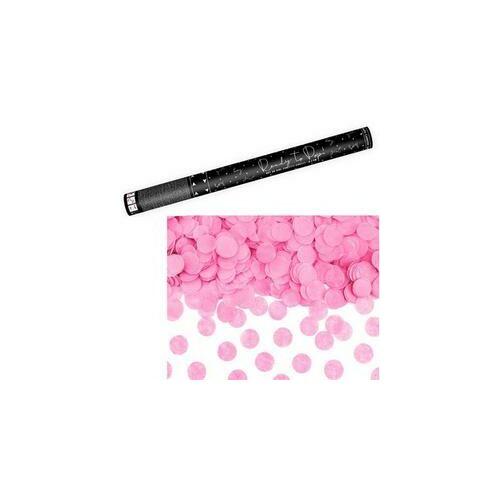 Rózsaszín Kerek Konfettiket Kilövő Konfetti Ágyú