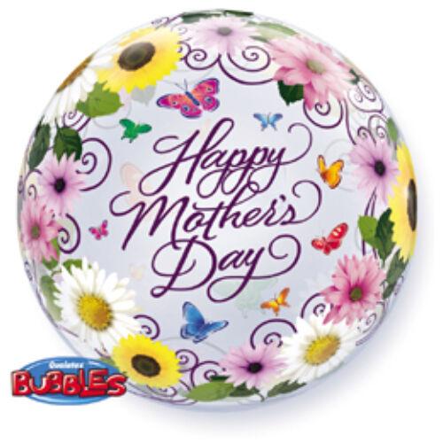 Anyák napi virág buborék léggömb