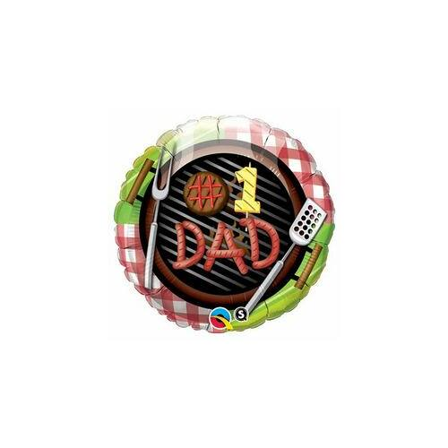 #1 Dad - Apa (Apu) Grill Fólia Léggömb