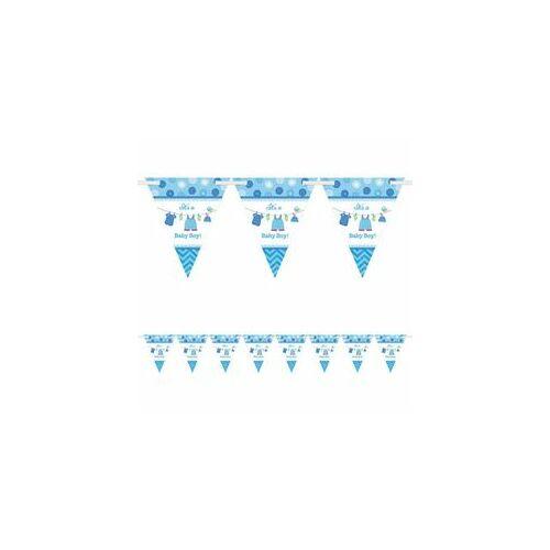Shower With Love Kék Zászlófüzér Babaszületésre - 4 M
