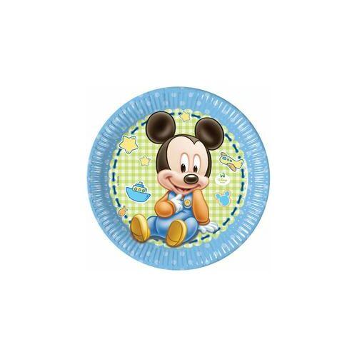 Mickey Baby Parti Tányér - 8 Db-Os, 23 Cm