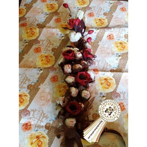 Raffaello Bonboncsokor raffia virággal