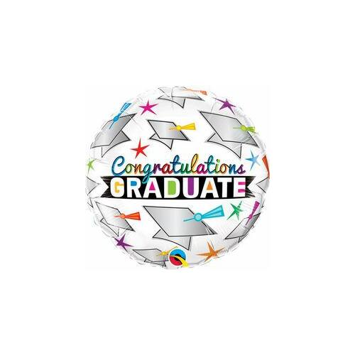 46 cm, Graduate Cap & Stars Ballagási Fólia Lufi