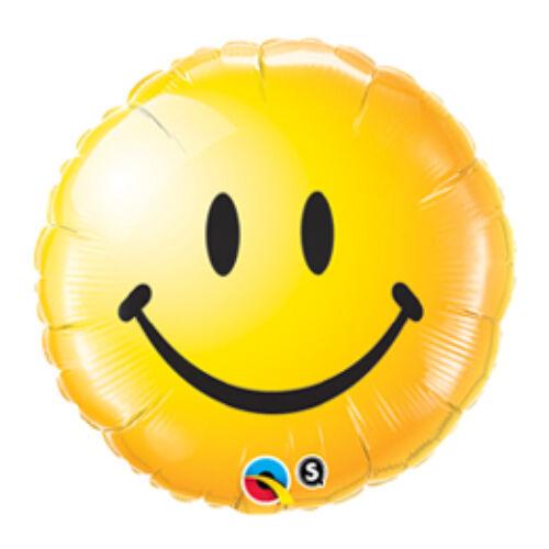 46 cm, Sárga Mosolygós Arc - Smile Face Yellow Fólia Lufi