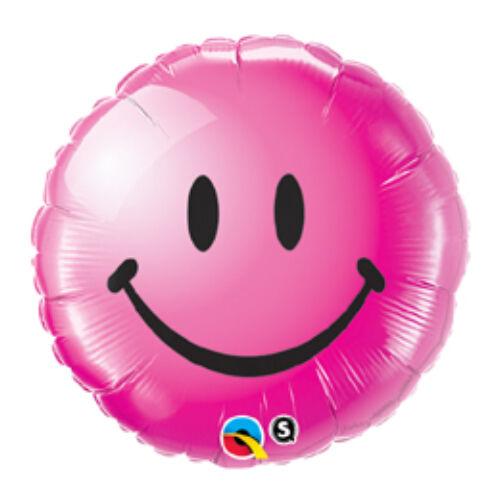 46 cm, Vadmálna Mosolygós Arc - Smile Face Wild Berry Fólia Lufi