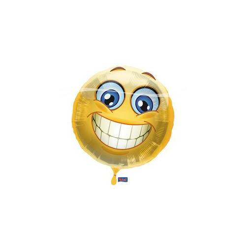 43 cm, Mosolygós - Smile Emoji Fólia Lufi