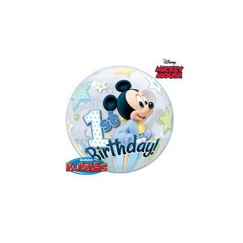56 cm-es Disney Bubbles Miki Egér Mickey Mouse Első Szülinapi Lufi