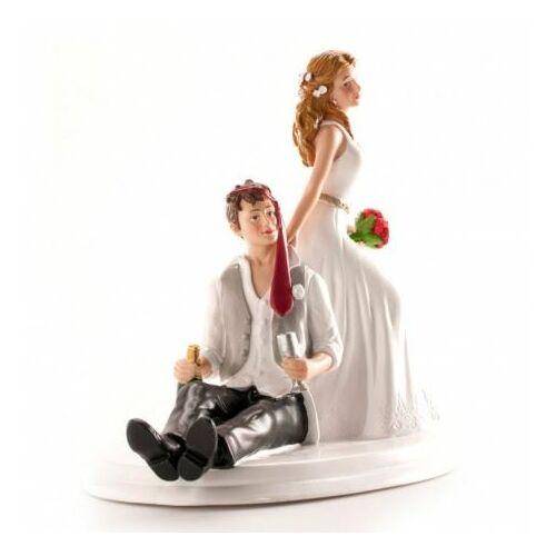 Elázott vőlegény  vicces tortadísz Esküvői tortára