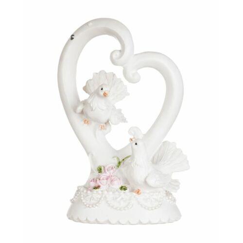 Esküvői tortadísz galambpár