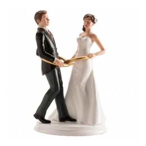 Karikagyűrűs Esküvői tortadísz