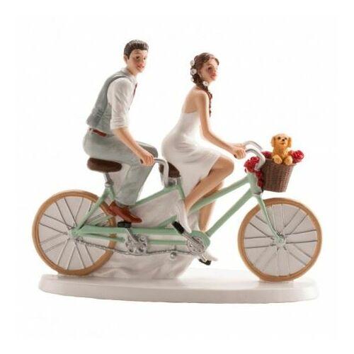Esküvői tortadísz tandem biciklis pár