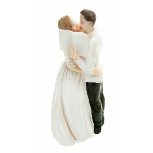 Esküvői tortadísz könyves csókolózós pár