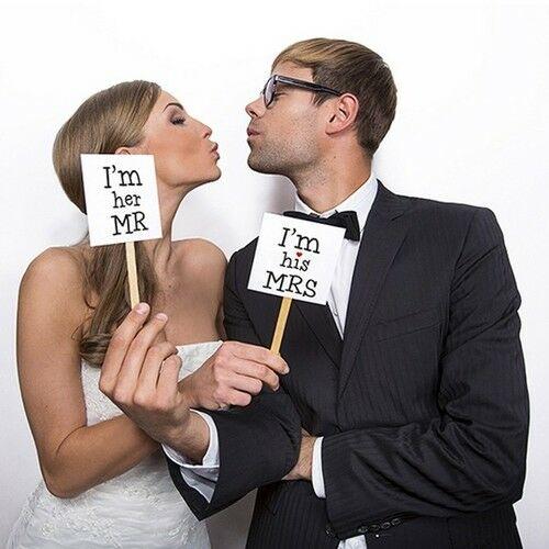 Vicces Táblák Esküvői Fotózáshoz - 2 db-os