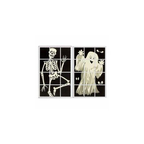 Szellem vagy Csontváz Ablakdekoráció Halloweenre