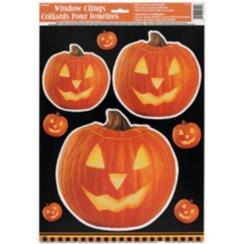 Alak dekor,- Világító Tök Mintás Halloween Parti Ablakdekoráció
