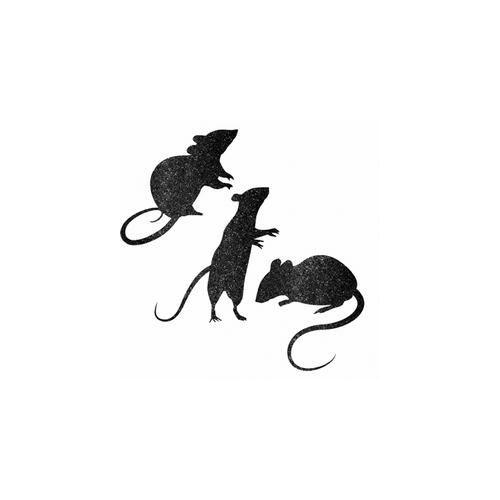 Fali dekor,- Glitteres Patkány Karton Dekoráció Halloween-Re, 9 Db-Os