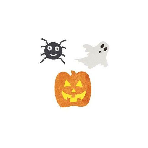 Fali dekor,- Pók, Szellem És Tök Mintás Karton Dekoráció Halloween-Re