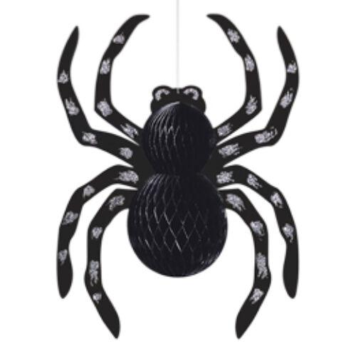 Lágtér dekor,- Glitteres Pók Függő Dekoráció Halloweenre