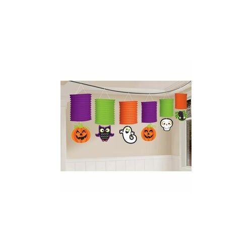 Légtér dekor,-Halloween Mintás Lampion Füzér - 365 Cm-E