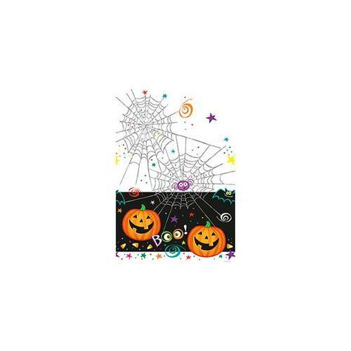Asztalterítő Pumpkin Pals - Tökfejes Halloween Parti Asztalterítő - 137 cm x 213 cm