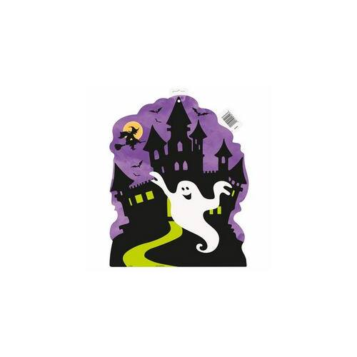 Dekorácio Kísértetház Karton Dekoráció Halloweenre - 40 cm