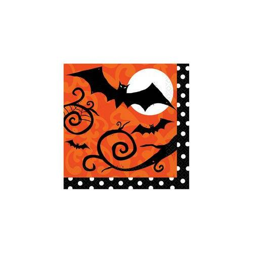 Szalvéta Frightfully Fancy Halloween Parti Szalvéta - 33 cm x 33 cm, 36 db-os