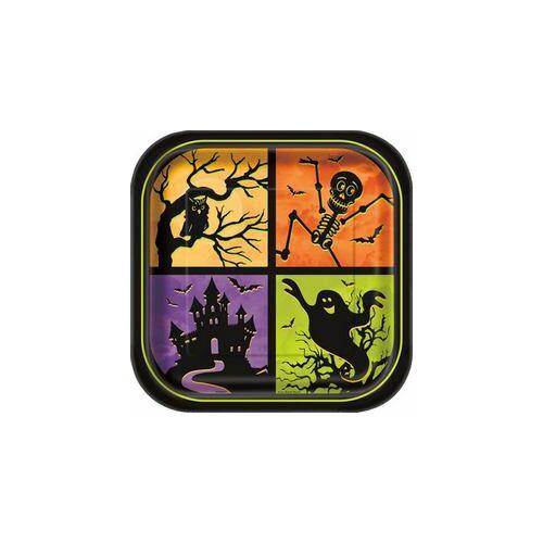 Tányér Kísértetház Tányér Halloweenre - 23 cm, 8 db-os