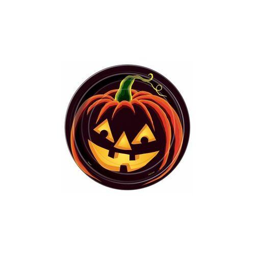 Tányér Pumpkin Grin Parti Tányér Halloweenre - 23 cm, 8 db-os