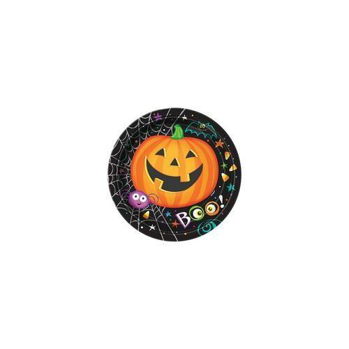 Tányér Pumpkin Pals - Tökfejes Parti Tányér Halloween-re - 18 cm, 8 db-os