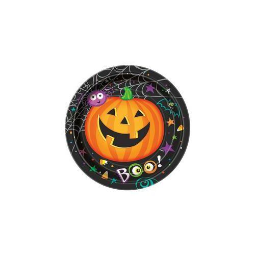 Tányér Pumpkin Pals - Tökfejes Parti Tányér Halloween-re - 23 cm, 8 db-os