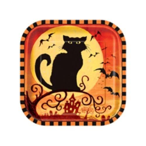 Tányér Spooky Hollow Halloween Parti Tányér - 18 cm, 10 db-os