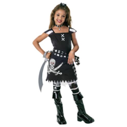 Kalóz,- Csini Koponyás Kalóz Jelmez Kislányoknak+ kiegészítőkkel + karddal