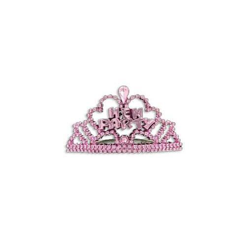 Fejdísz, 6 db os, Hen Party Pink Mini Tiara Szett Lánybúcsúra
