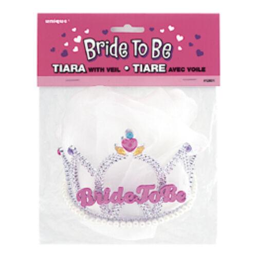 Fejdísz, Tiara, Bride To Be Feliratú Tiara Lánybúcsúra