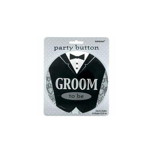 Kitűző, Groom To Be - Vőlegény Esküvői Óriás Kitűző