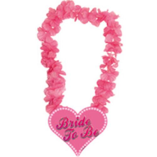 Nyakfüzér, Bride to be Feliratú Pink Hawaii Party Nyakfüzér Lánybúcsúra
