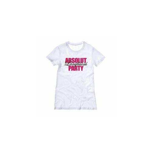 039e80f6c5 Póló, Absolut Lánybúcsú Party Fehér Női Póló - S.M,L, méretekben ...