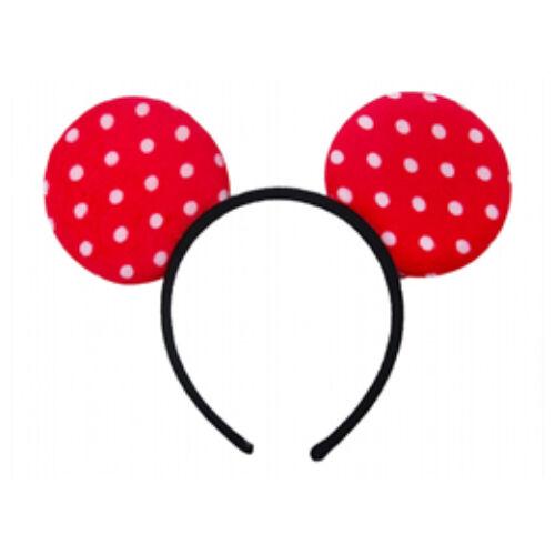 Minnie Egér  Mouse Piros Pöttyös Fejdísz