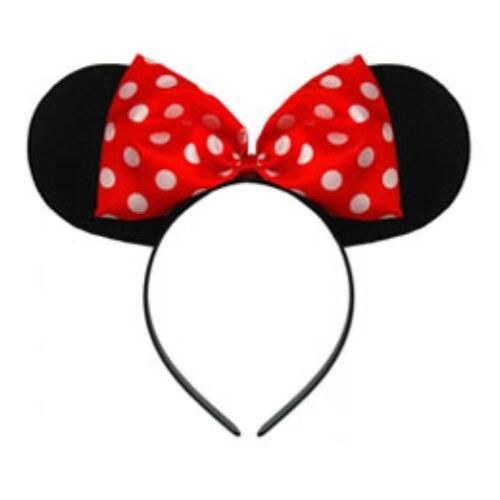 Minnie Egér  Mouse Fejdísz Piros Pöttyös Masnival