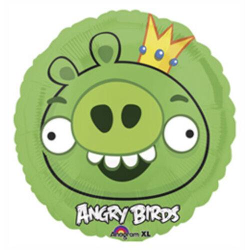 Lufi, Héliummal Angry Birds - Zöld Király Malac - Fólia Lufi