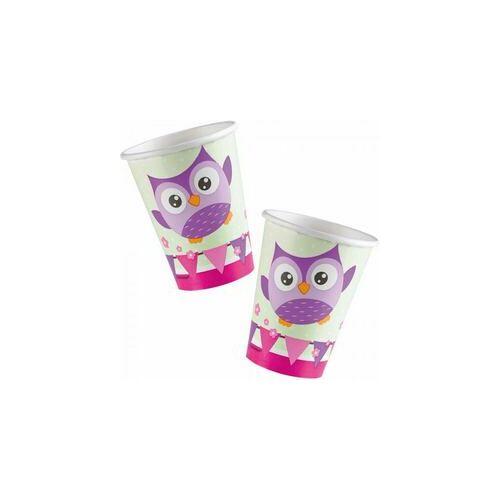 Pohár, Bagoly - Happy Owl Papír Parti Pohár - 266 Ml, 8 Db-Os