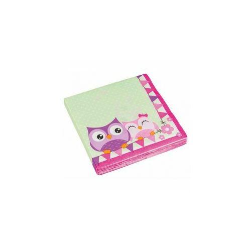 Szalvéta,- Bagoly - Happy Owl Papír Parti Szalvéta - 33 Cm X 33 Cm, 20 Db-Os