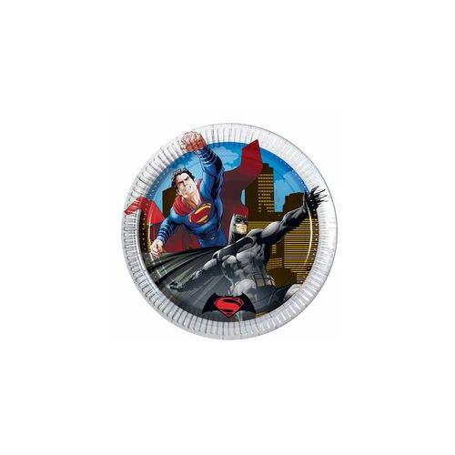 Tányér, Batman Vs Superman - Batman Superman Ellen Parti Tányér - 19,5 Cm, 8 Db-Os