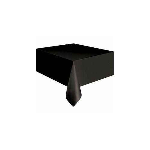 Fekete Terítő, Black Műanyag Parti Asztalterítő - 137 Cm X 274 Cm