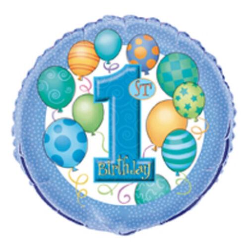 First Birthday Balloons Blue - Első Szülinapi Fólia Lufi